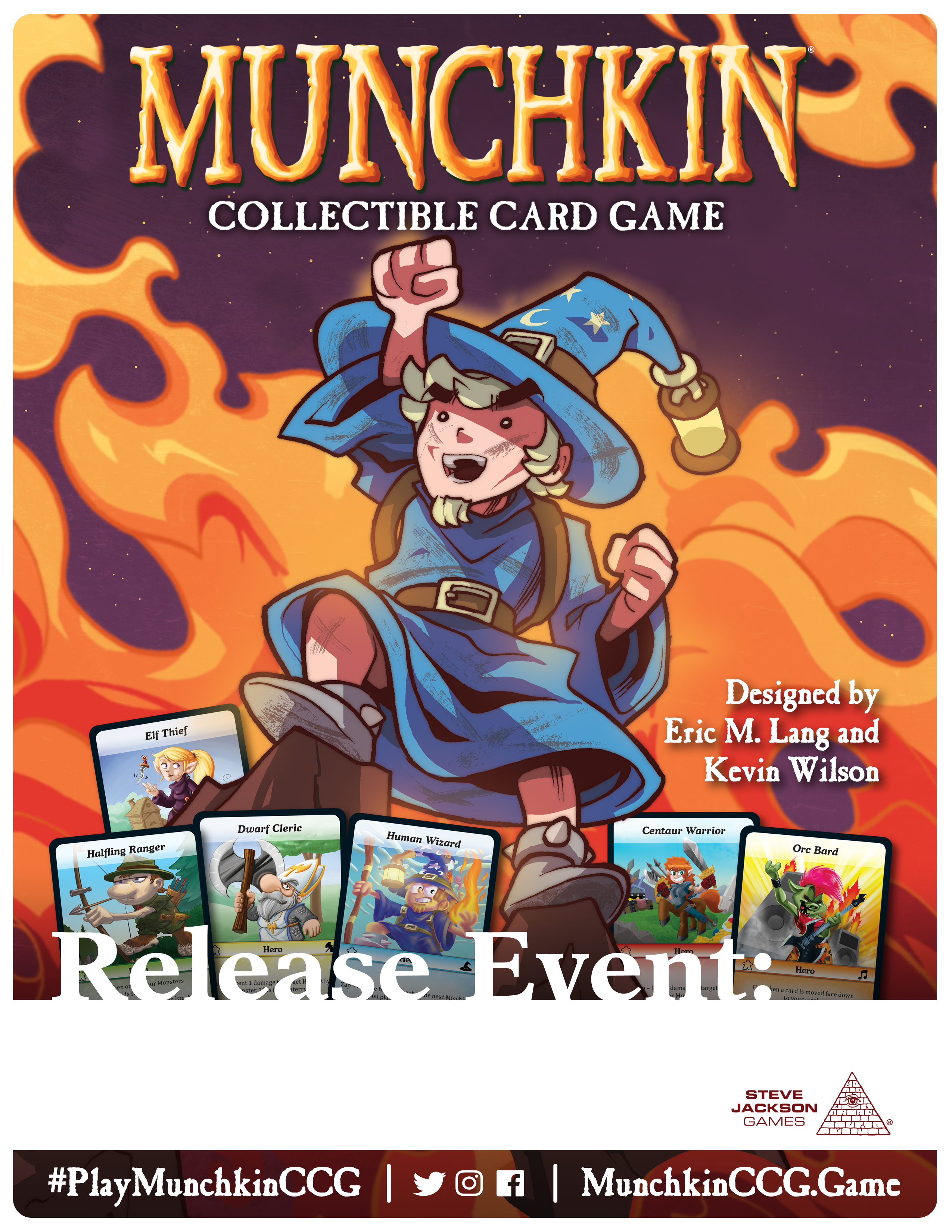 Munchkin Collectible Card Game Release Event Locations for March 2 - 4!